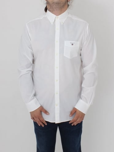 Broadcloth Button Down Shirt - White