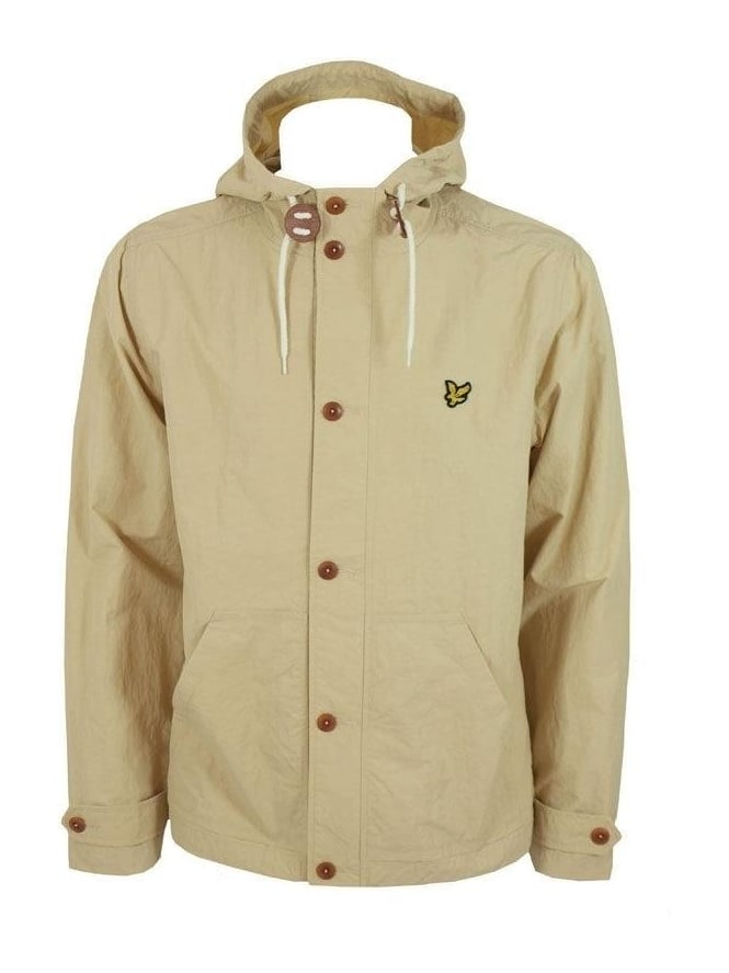 Lyle and Scott Button Through Hooded Jacket - Chino