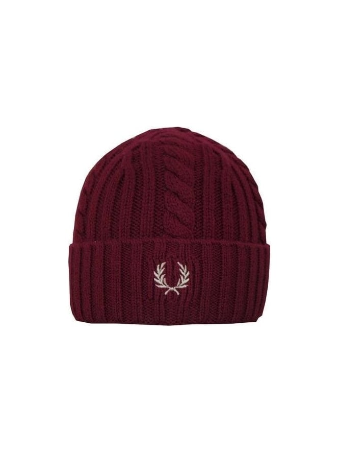 Fred Perry Cable Beanie - Port