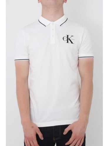 Pice True Icon Slim Fit Polo - White