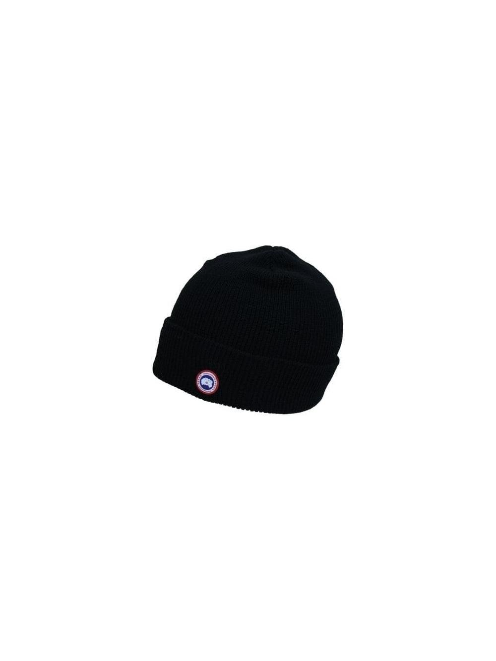 Canada Goose Merino Wool Watch Hat in Black - Northern Threads 7738573a5b7
