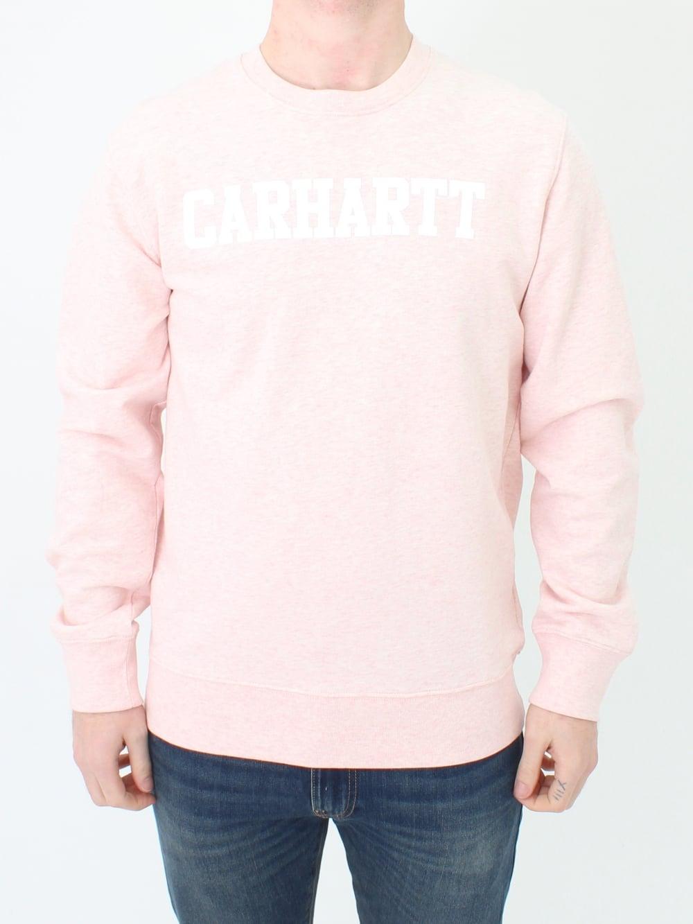 Carhartt WIP College Sweat - Sandy Rose eefe99434e48