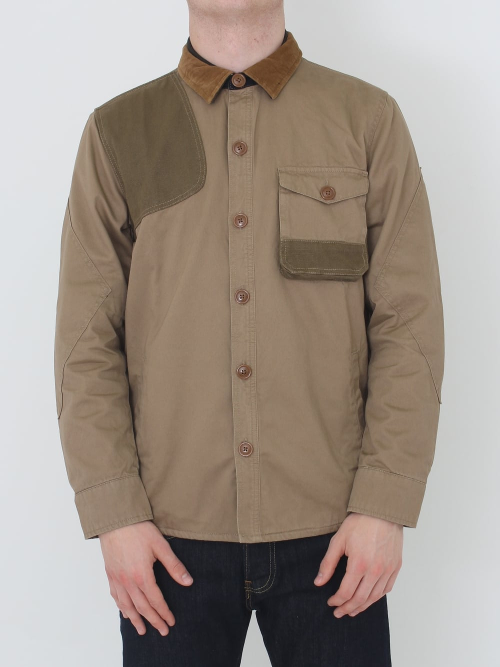 Clough Overshirt - Stone