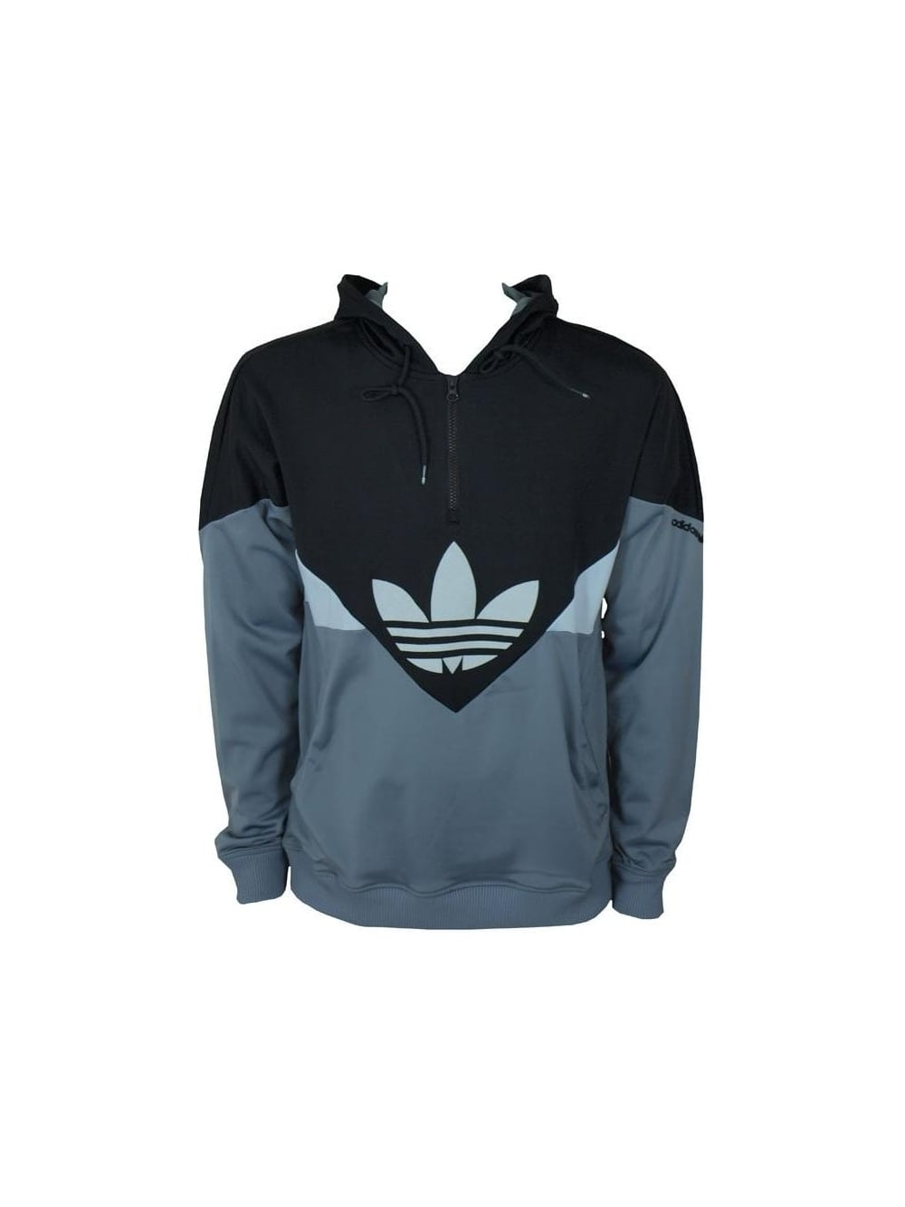 477cad4f Adidas Originals Colorado 1/2 Zip Hooded Sweat in Black - Buy Adidas ...