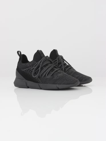 Rapide Knitted Trainer - Black