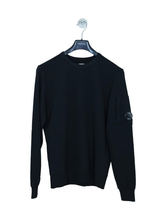 CP Company Crew Neck Lens Viewer Sweat - Black