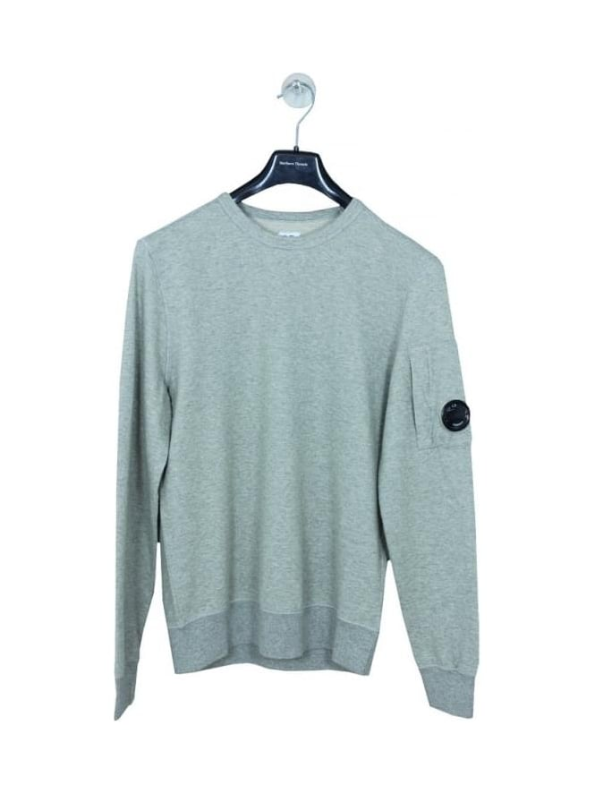 CP Company Crew Neck Lens Viewer Sweat - Grey Marle