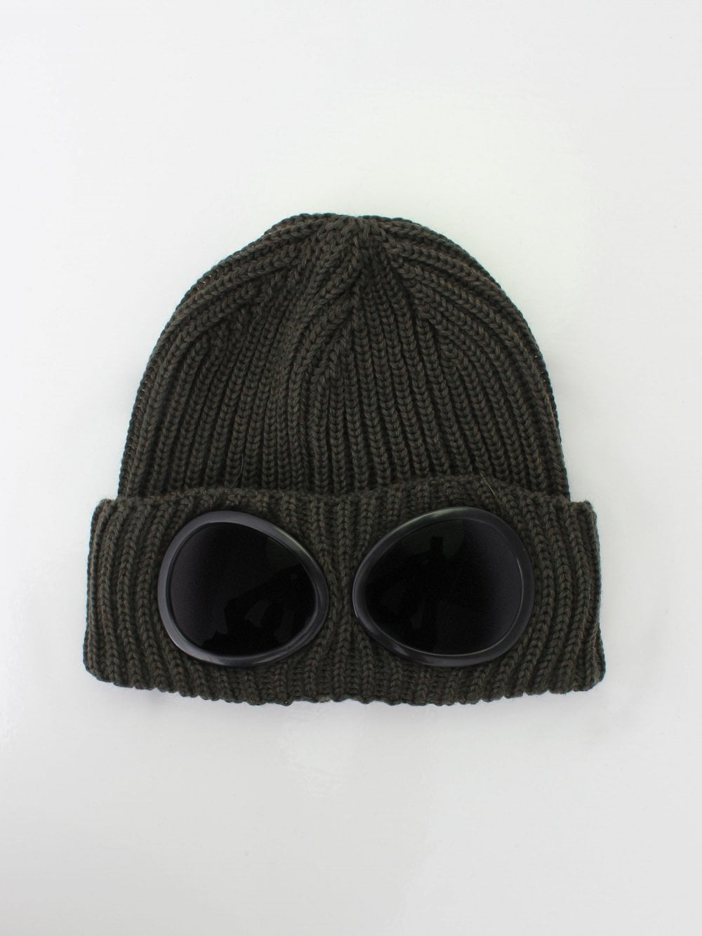 aa39fd9bf2d C.P Company Goggle Beanie in Dark Olive