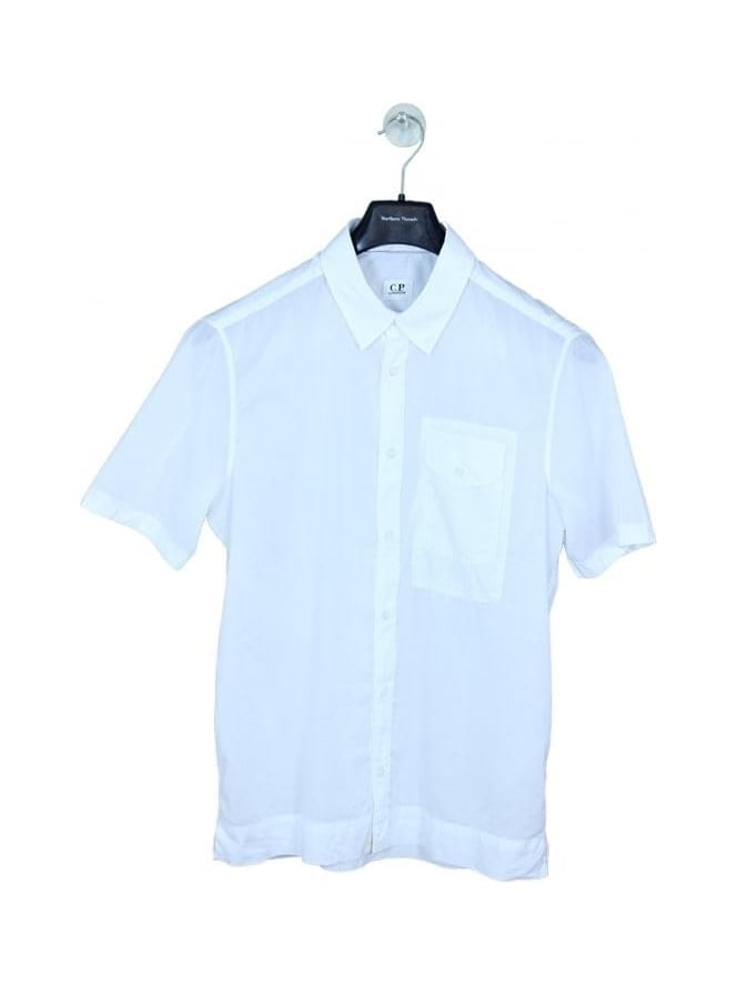 CP Company Regular Fit Short Sleeved Shirt - White