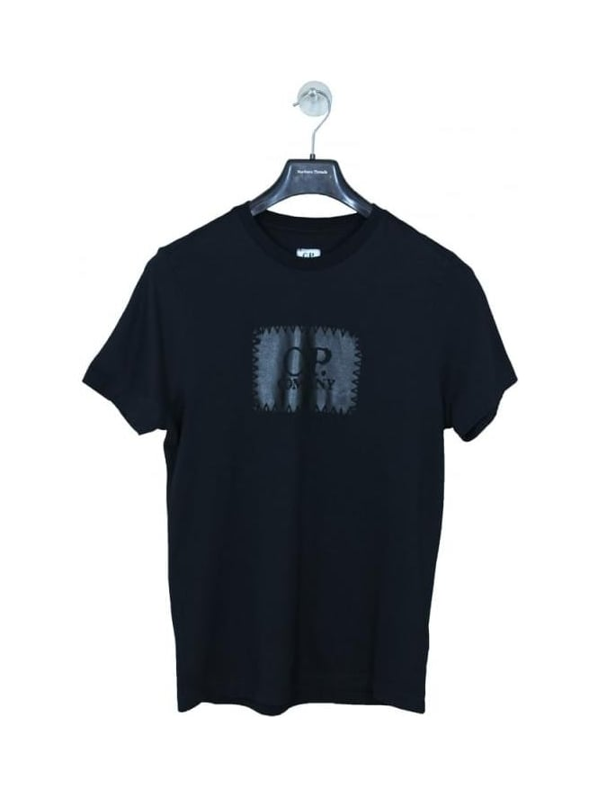 CP Company Stamp Logo T Shirt - Black