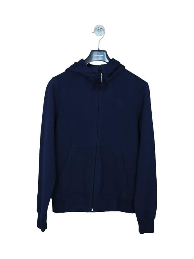 CP Company Zip Through Goggle Fleece Sweat - Navy