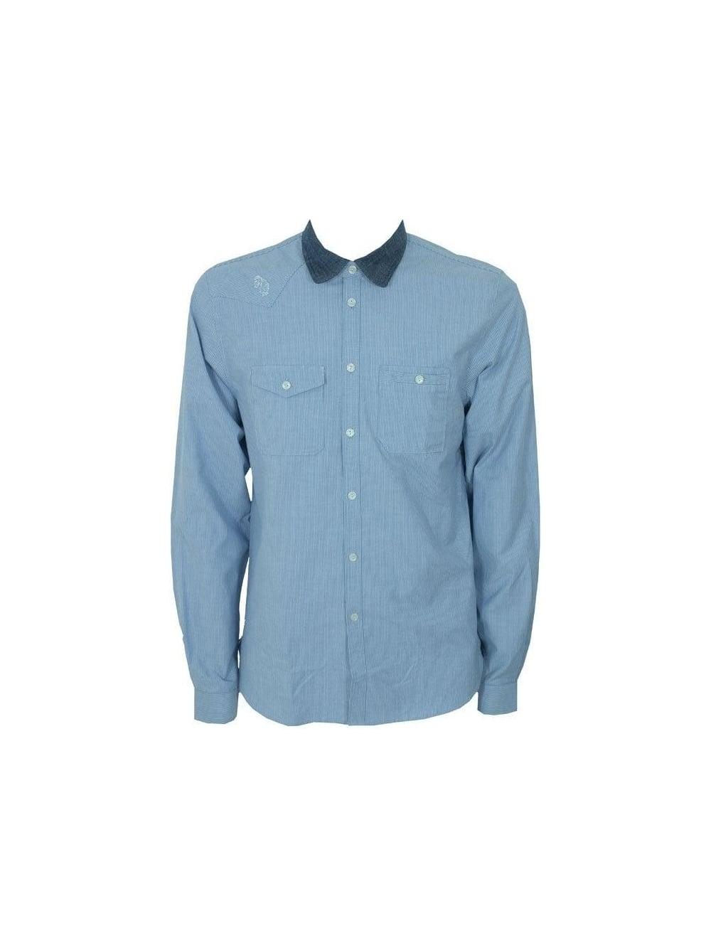 Luke 1977 luke 1977 crib classic work shirt blue light for Light blue work shirt