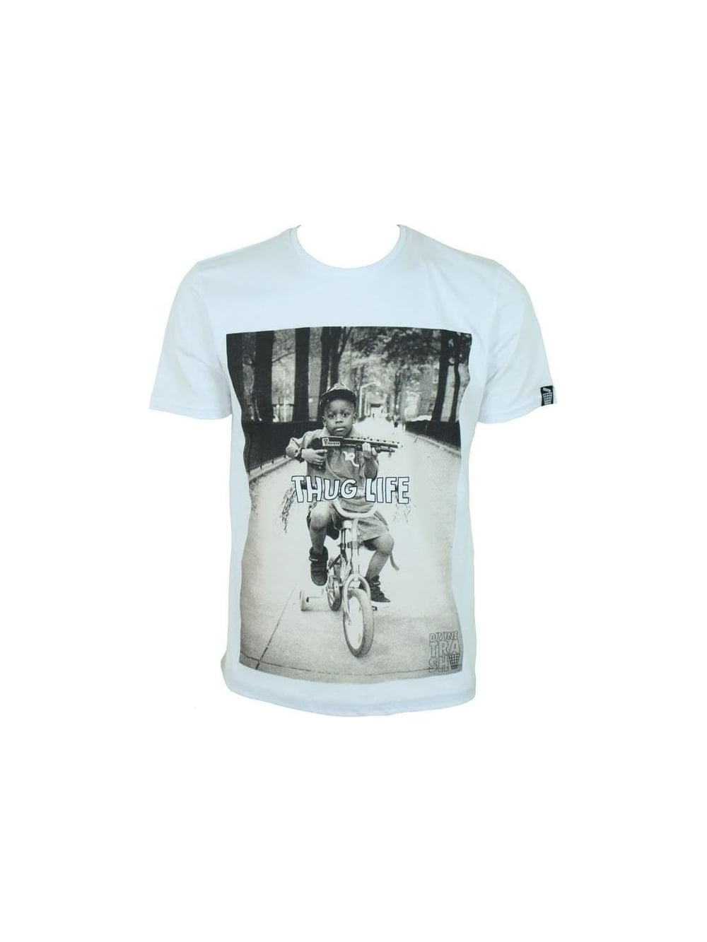 Divine Trash Thug Life T Shirt In White Northern Threads