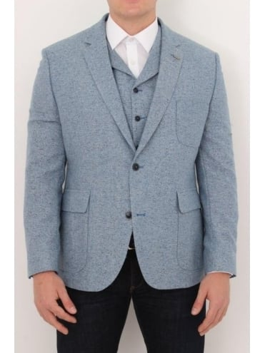 Donegal Herringbone Jacket - Pale Blue