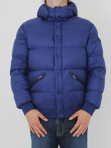 Down Detachable Hood Jacket - Cobalt