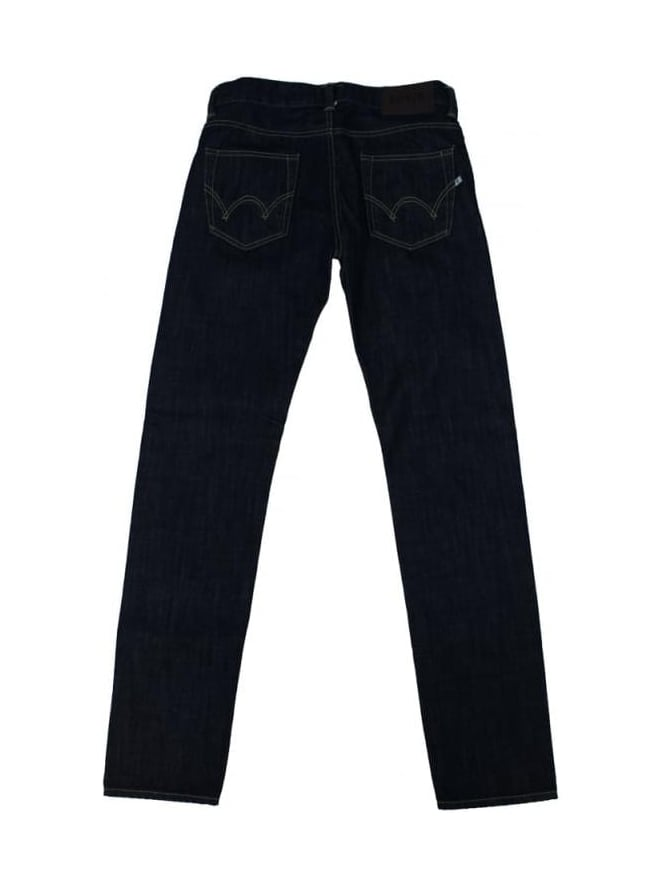 Edwin ED80 Slim Tapered Jeans - Blue Rinsed