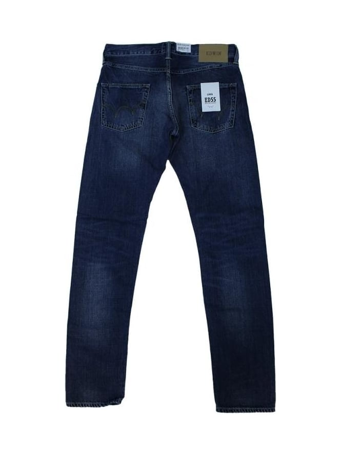 Edwin 11.8oz ED55 Tapered Jeans - Savage Wash