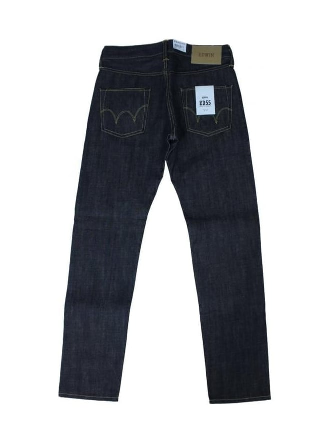 Edwin ED55 13.5 Oz. Tapered Jeans - Unwashed