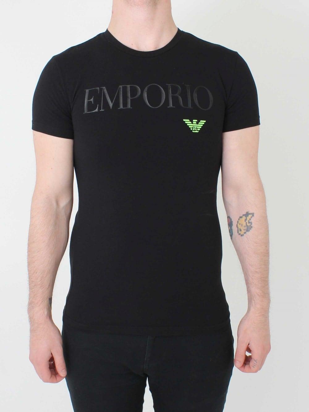 bc339b2c Emporio Armani Loungewear Logo T.Shirt in Black   Northern Threads