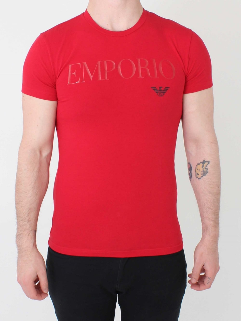 e661c6cf Emporio Armani Loungewear Logo T.Shirt in Red | Northern Threads
