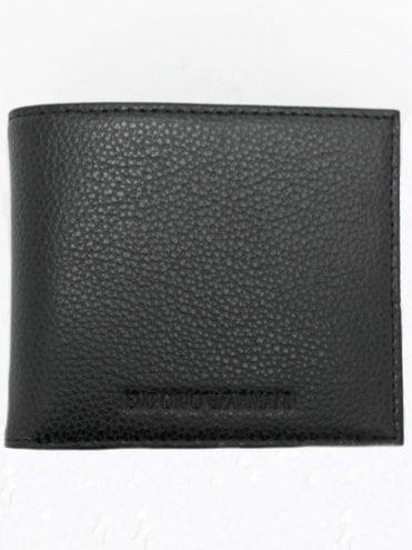 44a7c52c81 Embossed Logo Bifold Wallet - Black. Emporio Armani ...