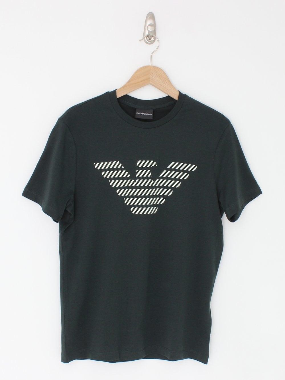 tout à fait stylé volume grand nouvelles variétés Oversized Eagle Print T.Shirt - Dark Green