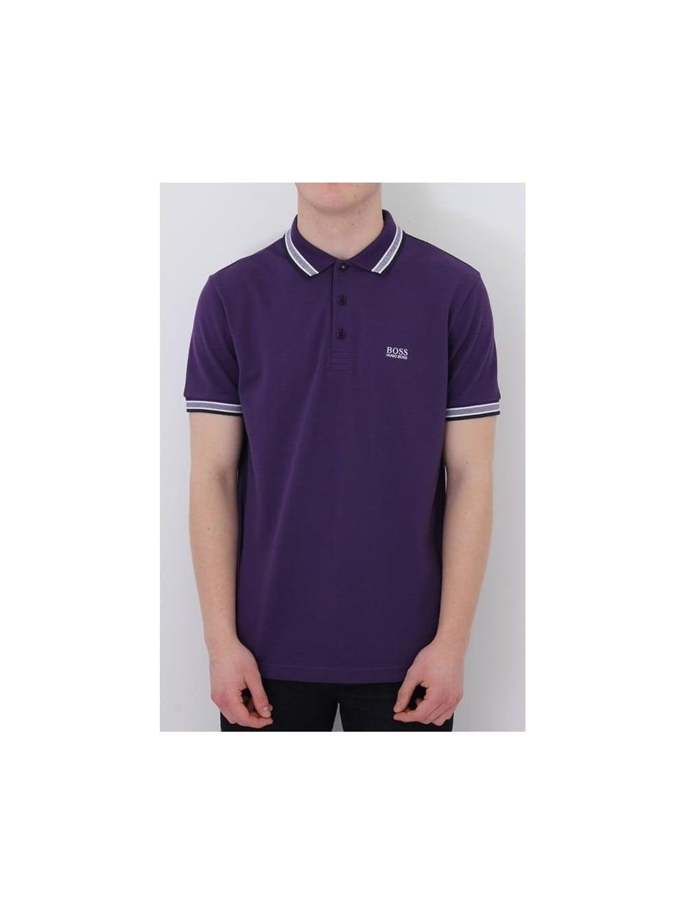 40da55924 HUGO BOSS BOSS Green Paddy Polo In Dark Purple - Northern Threads
