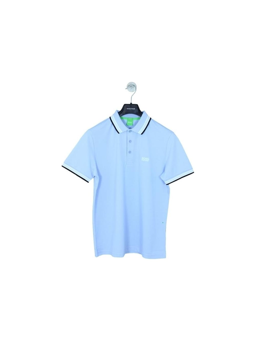 459805186 Hugo Boss Green Paddy Polo in Dark Blue - Northern Threads