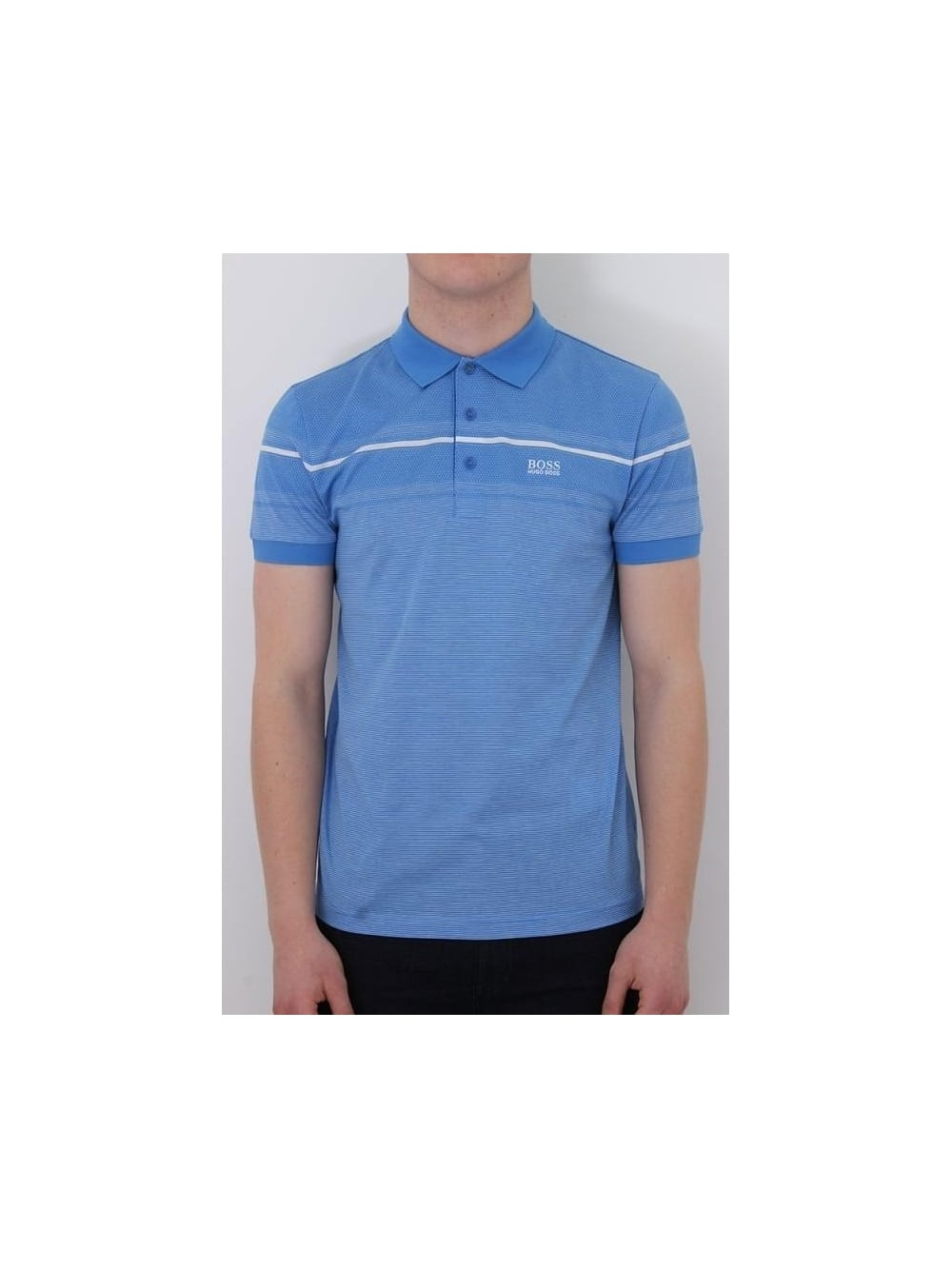 43c2bf00 HUGO BOSS BOSS GREEN Paule 5 Polo In Medium Blue - Northern Threads