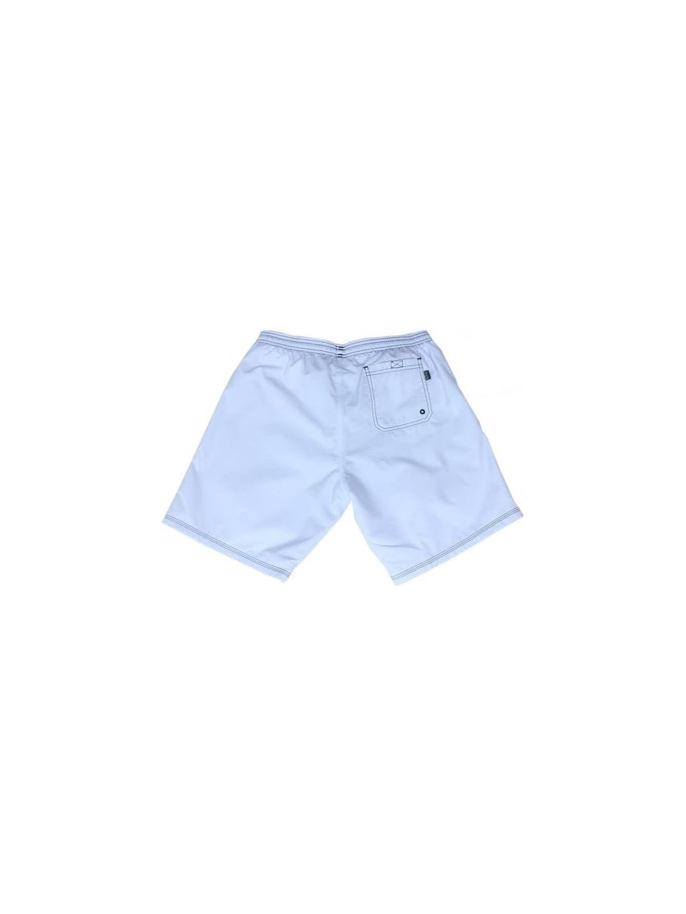 216ef4d4543ea Hugo Boss Black Killifish Swimming Shorts In White - Northern Threads