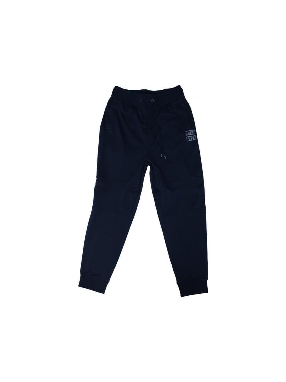 13d2e34f8 Hugo Boss Black Logo Cuffed Sweat Pants in Dark Blue - Northern Threads
