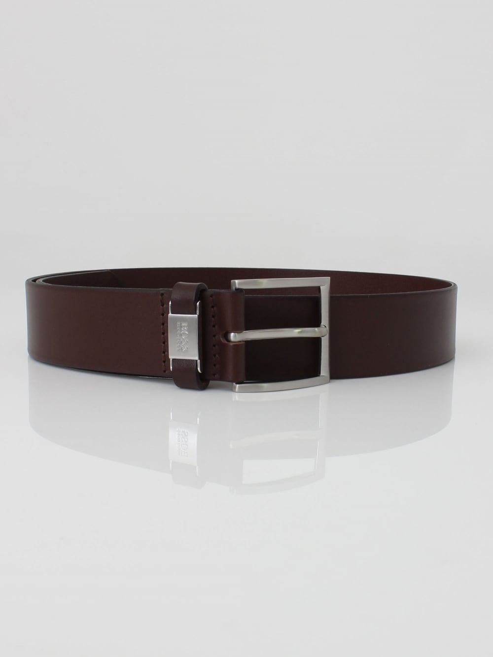 ac9889c2a Hugo Boss Connio Leather Belt in Dark Brown   Northern Threads