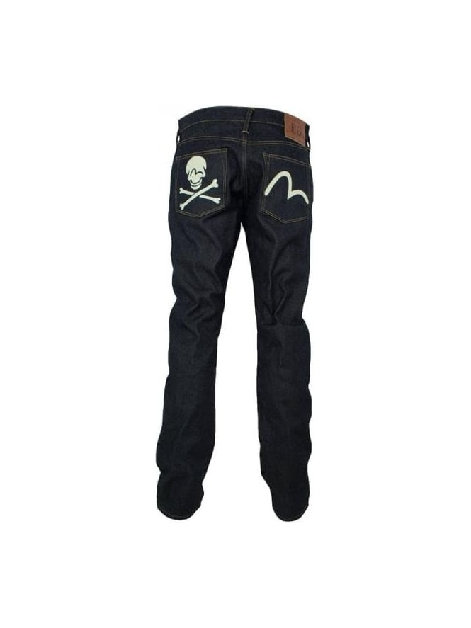 1ba067759088 Evisu - Evisu Skull Straight Leg Jeans - Deep Blue - Evisu Mens ...