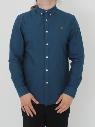 Brewer Slim Fit Long Sleeve Shirt - Atlantic