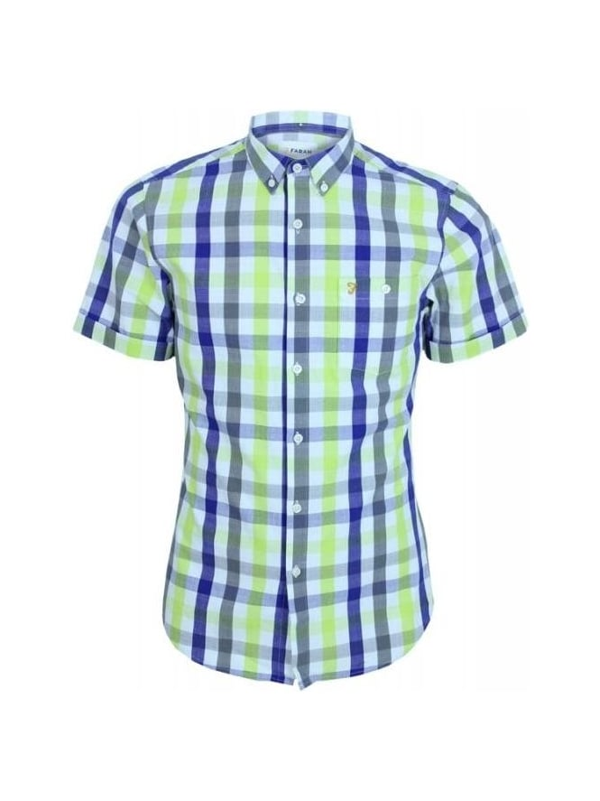 Farah Chiltern Check Shirt - Clematis