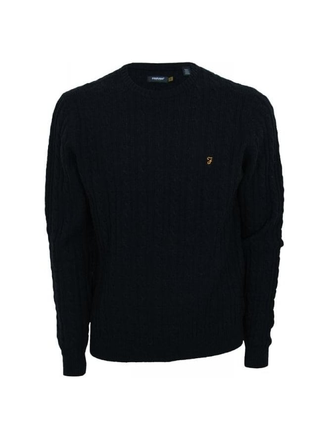 Farah Kirtley Cable Knit - Black