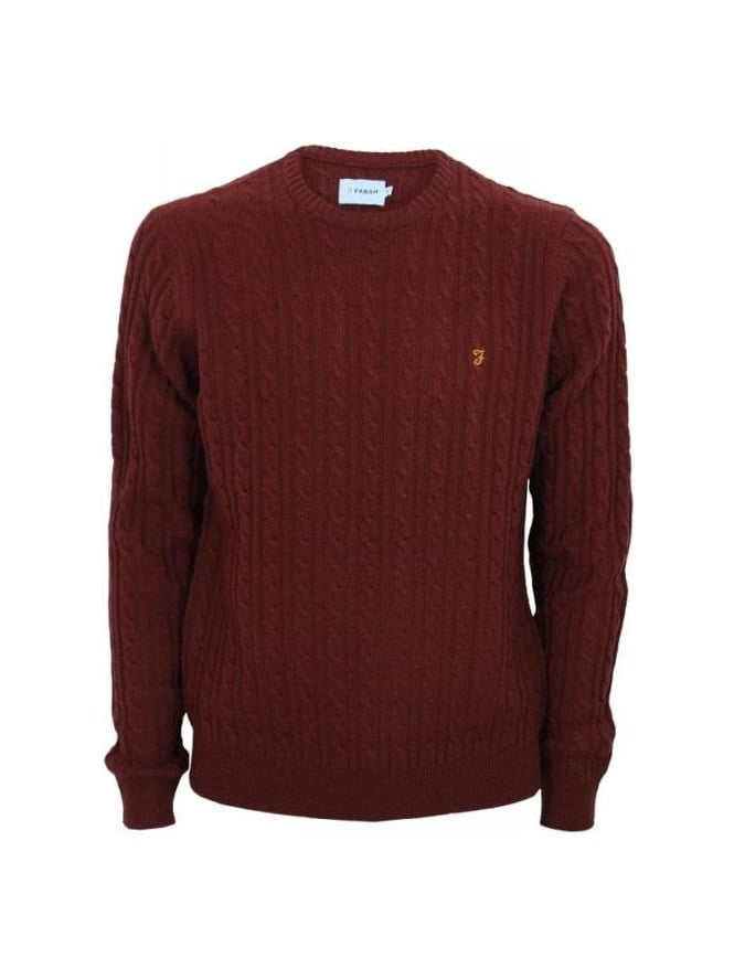Farah Kirtley Cable Knit - Rose