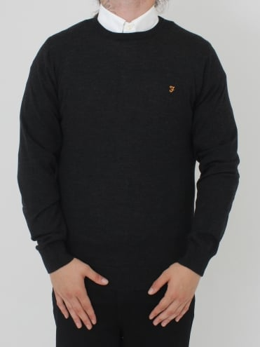 Mullen Wool Crew Neck Knit - Asphalt