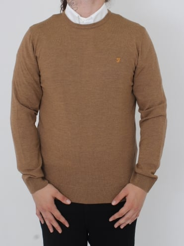 Mullen Wool Crew Neck Knit - Camel