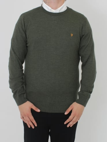 Mullen Wool Crew Neck Knit - Cilantro