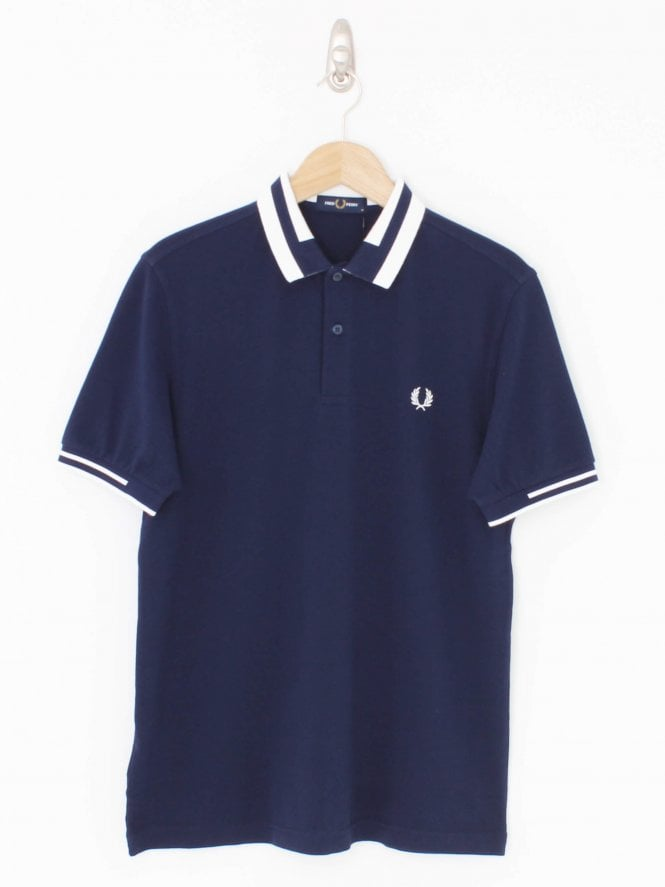 Fred Perry Block Tipped Logo Polo - Carbon