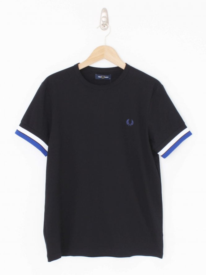 Fred Perry Bold Tipped logo T-Shirt - Black