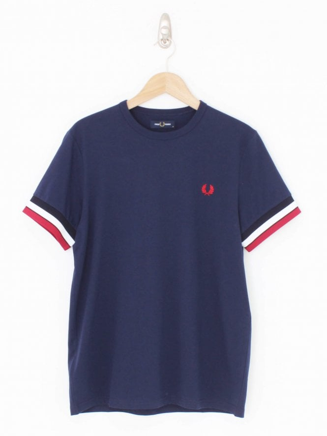 Fred Perry Bold Tipped Logo T-Shirt - Carbon