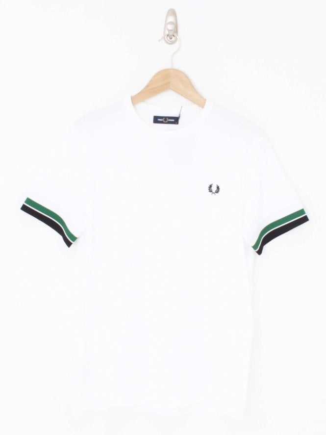 Fred Perry Bold Tipped Logo T-Shirt - White