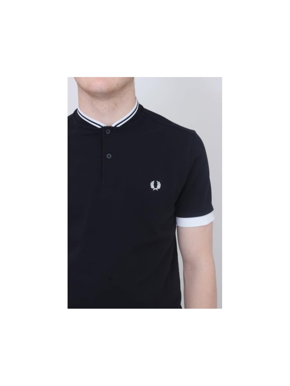 eee0d3354 Fred Perry Bomber Collar Pique Polo In Navy - Northern Threads