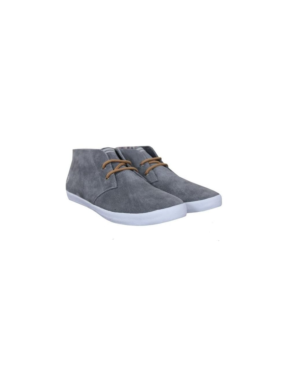 livraison gratuite 60596 82ba8 Fred Perry Byron Mid Suede - Mid Grey