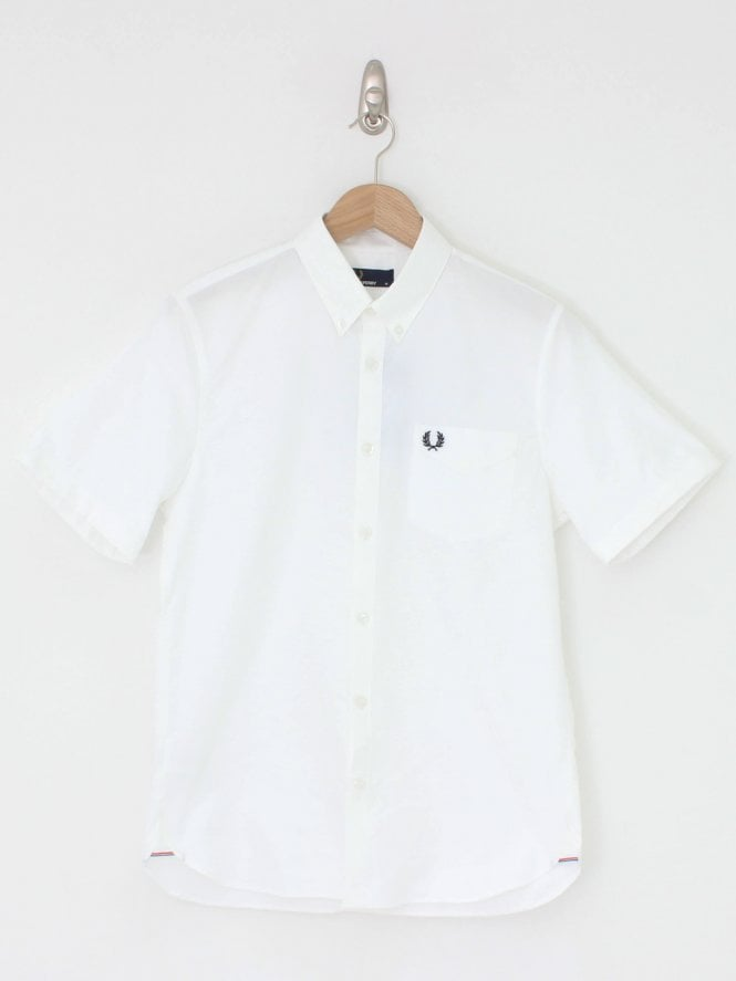 Fred Perry Classic Oxford S/S Shirt - White