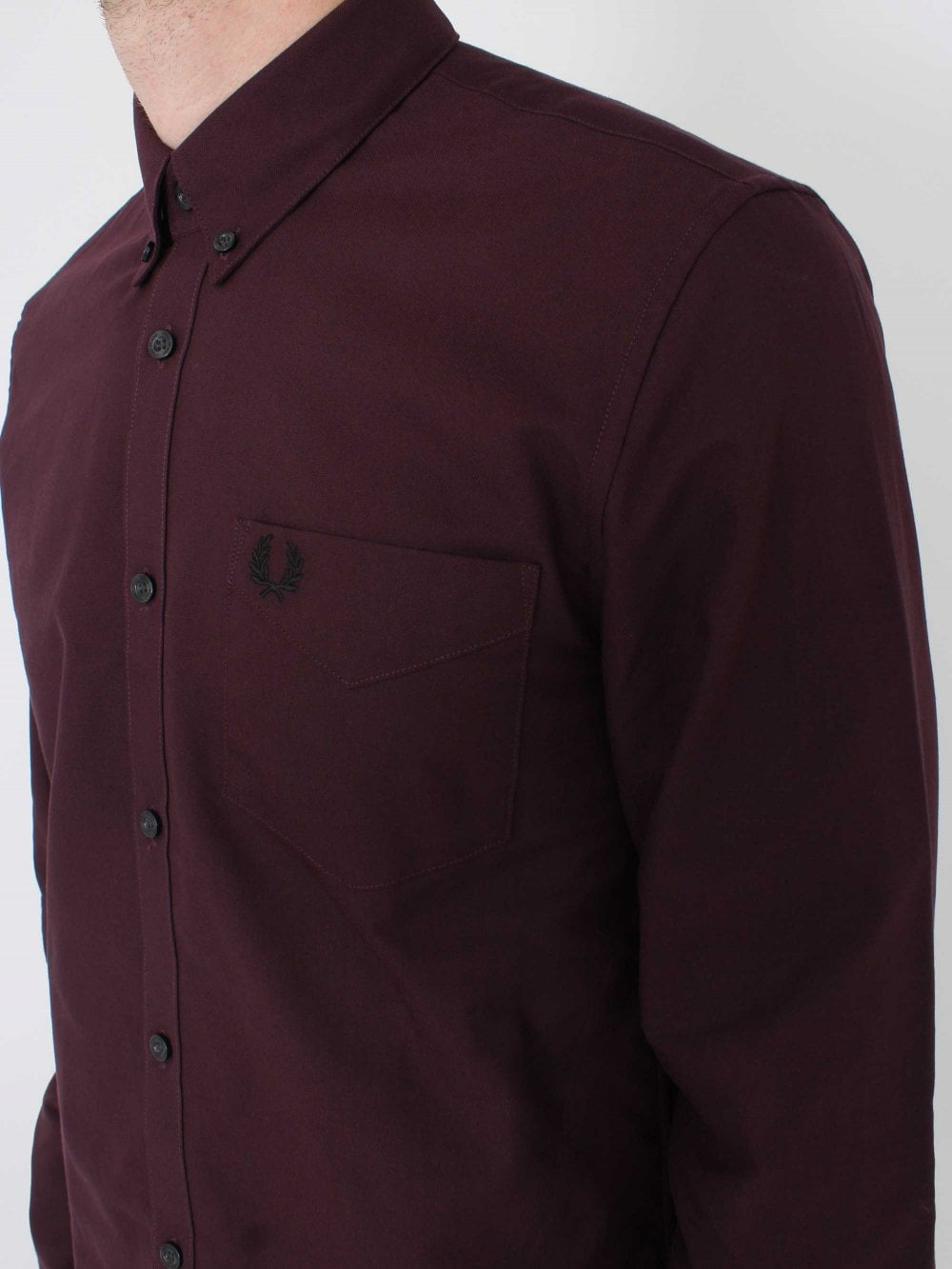 76eef3cabcee96 Fred Perry Classic Oxford Shirt in Mahogany | Northern Threads