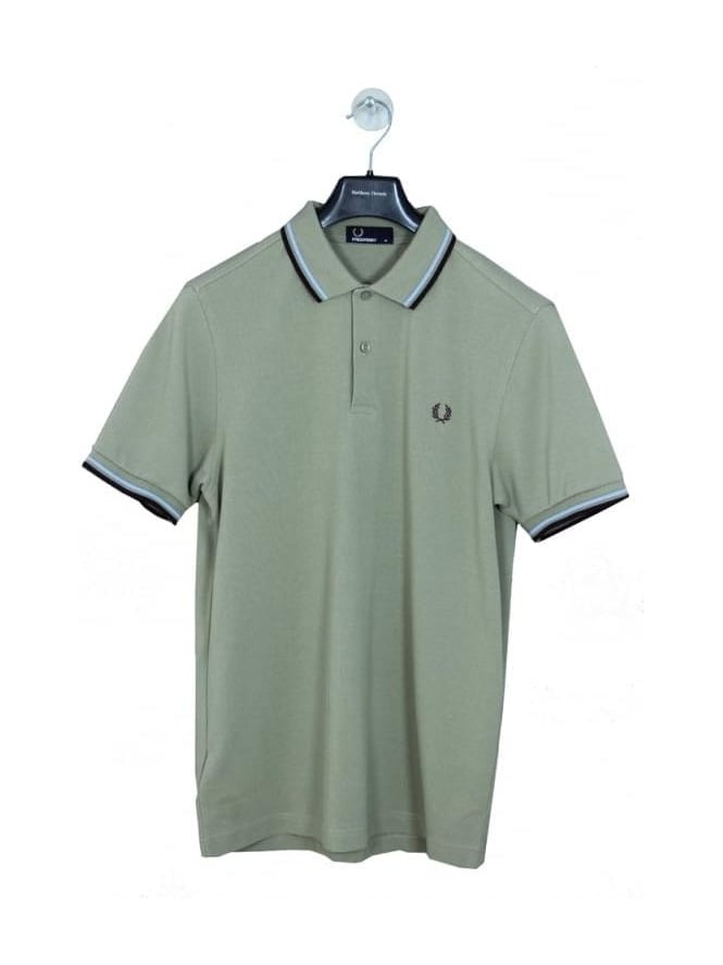 Fred Perry Classic Twin Tipped Polo - Field Green