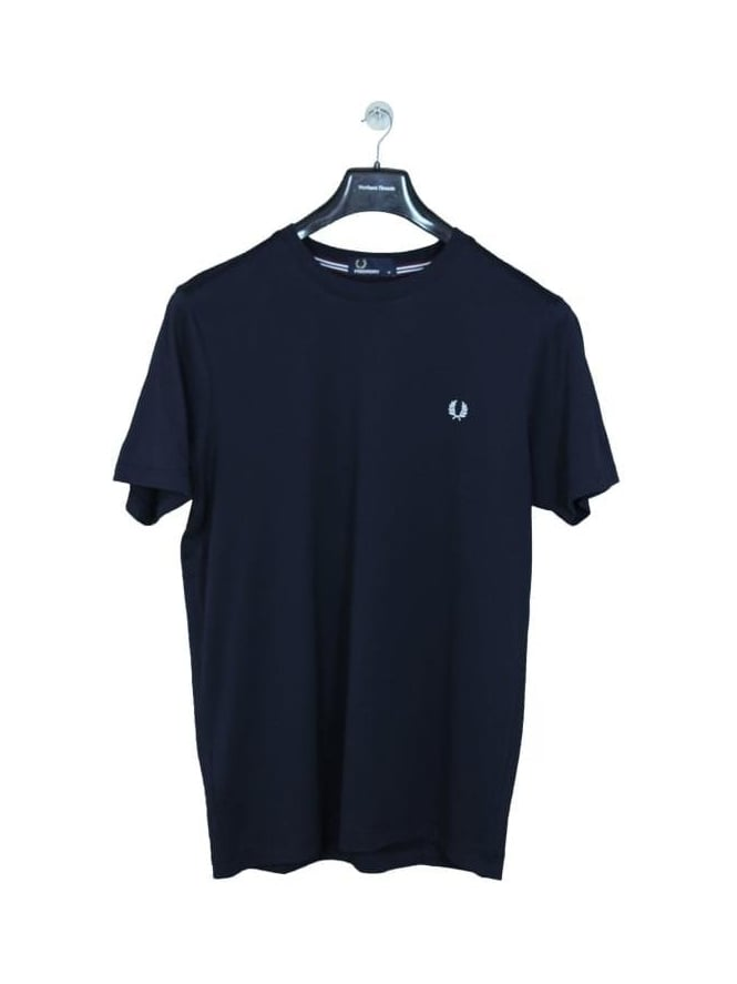 Fred Perry Crew Neck Logo T.Shirt - Navy